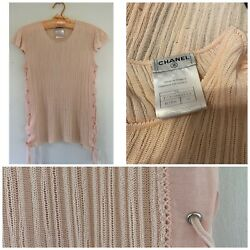 Vintage 2004 Cruise Collection Knit Top With Lace Up Sides