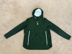 Michigan State Spartans Nike Sideline Fly Rush Pullover Jacket Mens Size L