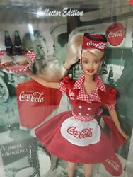 Coca-cola Barbie Collector Edition 1998 Doll Mattel 22831 New In Package Nrfb