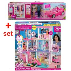 Barbie Day To Night Dreamhouse+ Barbie Dress Up And Go Closet,luxury Xmas Gift