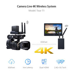 4k Wireless Hdmi Audio Video Adapter Receiver Transmitter For Live Streaming.
