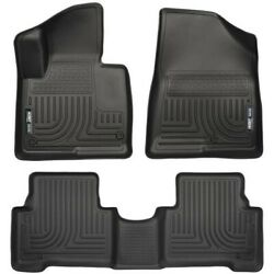 Set-h2113851 Husky Liners Set Of 2 Floor Mats Front New Black For Hyundai Pair
