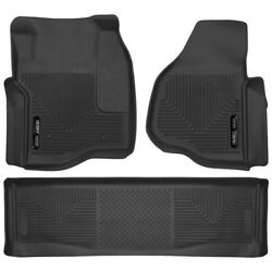 Set-h2153301 Husky Liners Floor Mats Set Of 2 Front New Black For Ford Pair