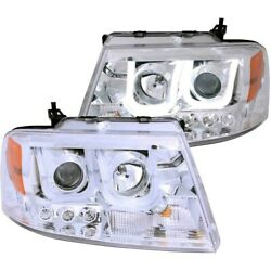 111287 Anzo Headlight Lamp Driver And Passenger Side New For F150 Truck Lh Rh Ford