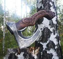 Wild Boar Axe Beautiful Hunting Collection Gift Hatchet Engraved Axe Luxury Men