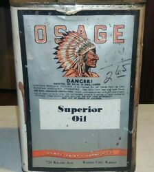 Vintage Advertising Osage Superior Oil Can Tin