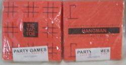 2 PACKAGES NEW Party Games COCKTAIL BEVERAGE NAPKINS