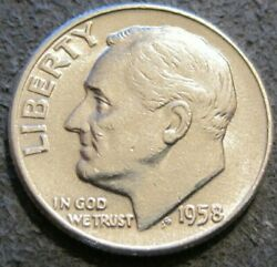 As Shown - 1958 P Roosevelt Dime // 90 Silver // 145