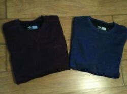 Mens Callaway Long Sleeve Pullover Poly Golf Shirts Sz Lg Lot Of 2 Exc Cond
