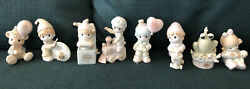 Precious Moments Birthday Club Lot Of 8. With Original Boxes And Tags 1989-1996