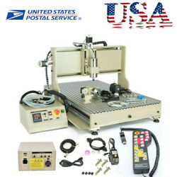 4 Axis Cnc 6090 Router 1500w 3d Engraver Metal Milling Engraving Machine Usb