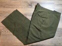 Military Trousers 38xl Mens Poly/wool Tropical Green Pants Usmc 2241 Class 3
