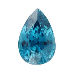 Loose Gemstone Blue Zircon Pear Shape Faceted For Jewelry Making Ct 12.05