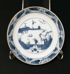 A Chinese 18th.century Nanking Cargo Batavian Saucer Good Condition.
