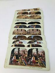 Vintage Antique Religious Stereoscope Stereoview Cards Lot Of 21 Jesus Easter