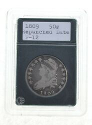 1809 Capped Bust Half Dollar - Repunched Date 3986