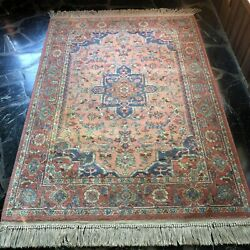 Karastangreat 4and0393 X 6and039 Medallion Serapi 736 Area Rug/carpetexcellent Wow