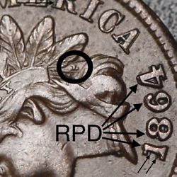 1864l Indian Head Cent - W Diamonds And Bold Repunched Date Rpd And Clipped - Xf Ef