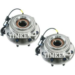 Set-tmha590437 Timken Set Of 2 Wheel Hubs Front Driver And Passenger Side New Pair
