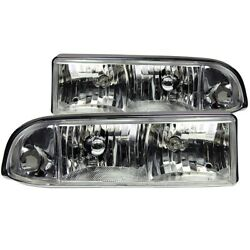 111014 Anzo Headlight Lamp Driver And Passenger Side New For Chevy S10 Pickup