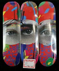 Paul Insect I See Skate Triptych Signee + Stickers Banksy,shepard Fairey,whatson