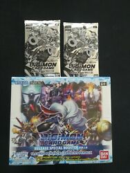 Digimon Card Game Release 1.0 Special Booster Box + 2 Dash Packs Priority Mail