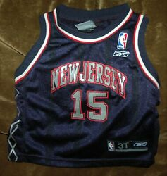 Rare Vince Carter Jersey New Jersey Nets Youth 3t Vintage Nba 2004-2009 Blue