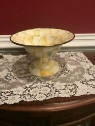 Mackenzie-childs Small Parchment Check Compote New