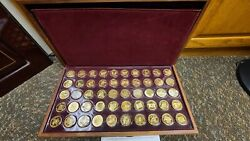 Franklin Mint States Of The Union Governor Edition Set 24k Gold Sterling Silver