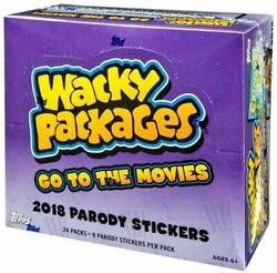 Wacky Packages Go To The Movies Trading Card Hobby Box 117b