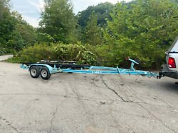 1990 Eagle Dual Axle Boat Bunk Trailer Alloy Wheels 24-26and039 Boat