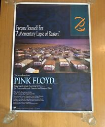 Pink Floyd Poster Vintage Original Rock Music Posters 80s/90s 90x64cm Approx