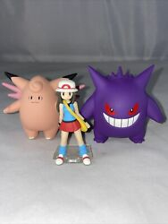 Pokemon Scale World Kanto Leaf And Clefable And Gengar 120 Scale Pocket Monster