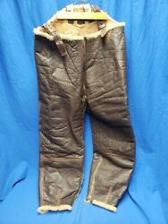 Wwii Us Army Air Forces Type B-1 Leather Bomber Trousers Pilot Flight Pants Ww2