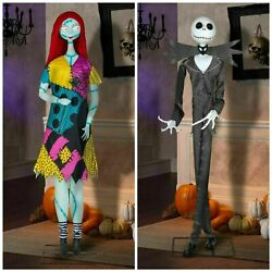 Jack Skellington And Sally Life Size Deluxe Animatronic Character Rare New