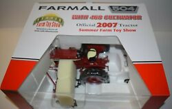 Speccast 1/16 2007 Summer Farm Toy Show Farmall 504 Tractor With 468 Cultivator