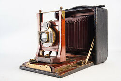 Graflex Folmer And Schwing R B Cycle Graphic 4x5 Large Format Camera Works V15