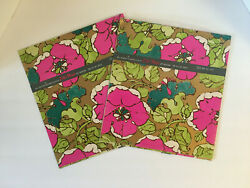 Vintage Lot Of 2 Buzza Cardozo Color Magic Wrapping Paper Scrapbook Pink Flower
