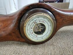 Ww1 Aircraft Wooden Propeller Hub With Barometer