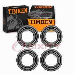 4 Pc Timken Rear Wheel Bearing And Race Sets For 1981-1983 Plymouth Pb350 Id