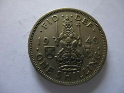 1949...one Shilling...george Vi...coin...free P+p