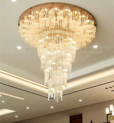 Customized Led Villa Living Room Crystal Lamp Hotel Lobby Staircase Chandelier