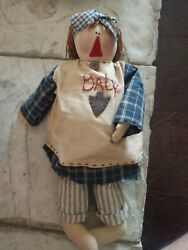 Honey And Me Barefoot And Pregnant Maternity Doll Primitive Raggedy Anne