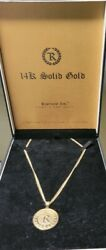 Nate Diaz Solid 14k Gold Chain Pendant Collectors Edition 58/209