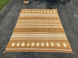 Early 20th Century Antique American Indian Navajo Rug 5x6.4 Estate Beauty