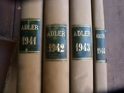 Der Adler Magazines 1941 - 44 Bound Hardcovers - 84 Issues In French
