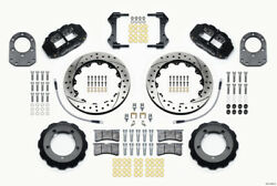 Wilwood Narrow Superlite 4r Front Hat Kit 12.88in Drilled For 66-75 Ford Bronco