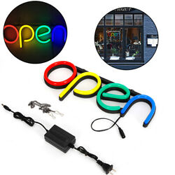 40x15x4cm Store Sign Lamp Led Open Neon Light Bar Cafe Shop Outside Wall Decor