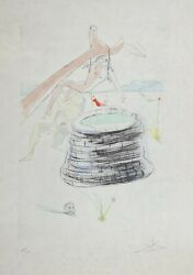 Salvador Dali Etching Joseph Our Historical Heritage Signed Japan Paper 1975