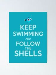 Keep Swimming Finding Nemo Fist Movie Kids Room Art Wall Decor Poster No Framed